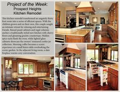 #ProjectOfTheWeek Prospect Heights Home Addition - This Prospect Heights kitchen remodel transformed an ungainly thirty foot room into a series of efficient spaces.