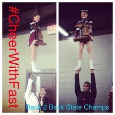 . High School Cheer, State Champs, Cheerleading, Baseball Cards, Sports, Hs Sports, Sport, Cheer