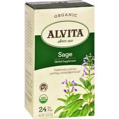 Alvita Teas Sage Tea - Organic - 24 Tea Bags