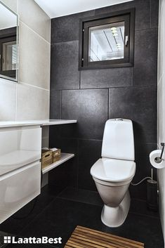 Grey Floor Tiles, Grey Flooring, Powder Room, Toilet, Bathroom, Modern, Home, Salsa, Google