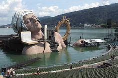 Bregenz Festival  Só o palco já é o espetáculo :O