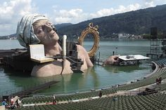 André Chénier - Scenery  The technical complexity is amazing to bring dynamics into the stage scenery. Along with it there are the light effects.Opera in four acts by Umberto Giordano, played this summer on the floating stage in Bregenz, Austria. August 10, 2011.