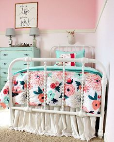 Shared Girls' Bedroom Makeover Do your kids share a bedroom? Are you looking for ideas? Come check out some fun and easy ideas for a shared girls bedroom makeover. Big Girl Bedrooms, Little Girl Rooms, Bedroom Girls, Rustic Girls Bedroom, Teal Teen Bedrooms, Red Kids Rooms, Girls Bedroom Turquoise, Childs Bedroom, Room Kids
