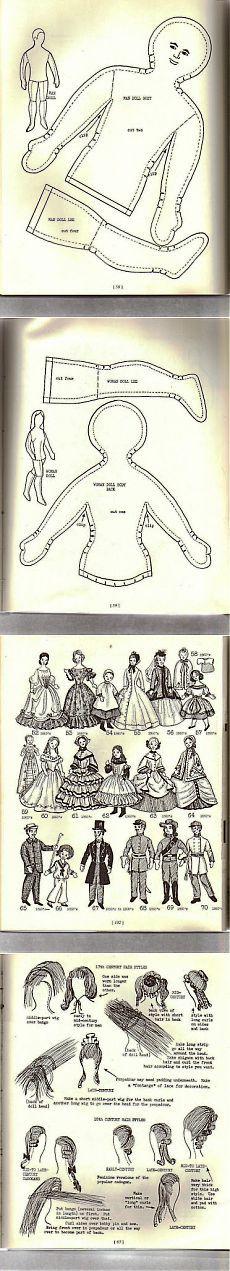книга с выкройками самих кукол и одежды для них