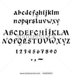 calligraphy alphabet - Google Search