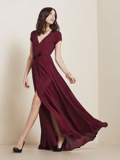 THE color of Fall 2014: merlot/oxblood. @reformation Lake Dress #babesmaids