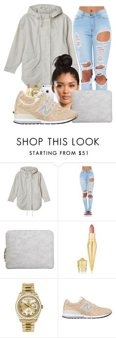 """""""1•22•16"""" by amor-diamond ❤ liked on Polyvore featuring Monki, 3.1 Phillip Lim, Christian Louboutin, Rolex and New Balance"""