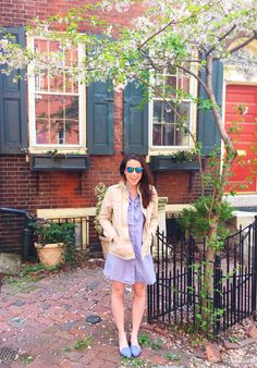 KMK Style Blog -- Spring Jacket & Chambray Flats. I love Kelly's eye for color and texture!