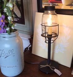 Mason Jar Desk Lamp- Medium – Red Barn Company Store