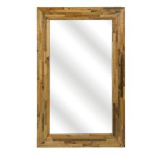 Caledonia Reclaimed Pine Wood Wall Mirror - IMAX Exclusive!