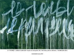 """Cy Twombly """"Blackboard"""" painting."""