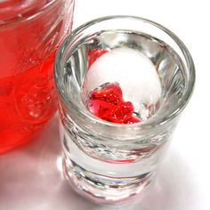 Gummy bear shots!  1/2 oz cherry vodka  1/2 oz peach schnapps  splash of pineapple juice  splash of Sprite