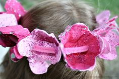 Crown of Roses Craft  thinking flower crown for dramatic play especially fairies