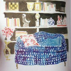 Virginia Johnson watercolors Virginia Johnson, Drawing Sketches, Drawings, House Illustration, Layout, Interior Paint, Artist At Work, Love Art, Illustrators