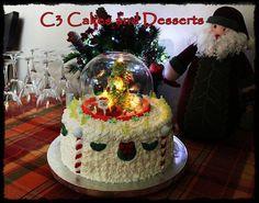 Lighted Christmas Cake