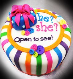 Wonder if i should do this for baby #2 a Baby Reveal cake...hmmm...I'm starting to get ideas...lol