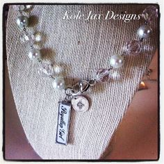 Personalized soldered pendant w/ fine silver initial by kolejaxdesigns