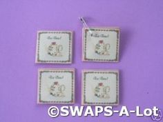 Mini Tea Packet England Friend Thinking Day SWAPS Kit for Girl Kids Scout makes 25