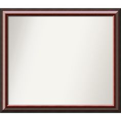 Wall Mirror Choose Your Custom Size - Large Cambridge Mahogany (Brown) Wood (Outer Size: 40 x 26-inch) (Glass)