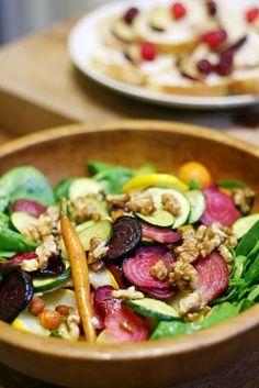 roasted veggie salad.. Yumm!