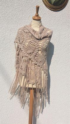 Organic Cotton Clothing Crochet Shawl Lace Shawl Boho