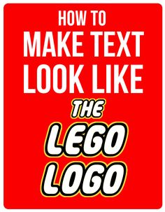 Learn how to Make Text Look Like the Lego Logo. I will walk you through the steps of turning your kid& name or whatever you like into a lego lookalike. Lego Themed Party, Lego Birthday Party, 6th Birthday Parties, Boy Birthday, Birthday Cakes, Birthday Ideas, Lego Parties, Ninjago Party, Lego Ninjago