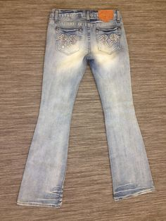 938660d4c11 REROCK FOR EXPRESS SIZE 0 DESTROYED FLARE JUNIORS STRETCH JEANS 28X32  SWEET! U2  ReRockforExpress