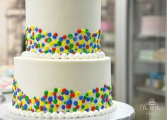 Primary Polka Dot Birthday Cake by Beverly's Best Bakery...different colors