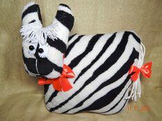 "Handmade Soft Toy/Gift/Baby Pillow Toy Подушка-игрушка ""Зебра"""