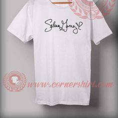 Selena Gomes Sign Custom Design T shirts //Price: $12.00//     #graphictees