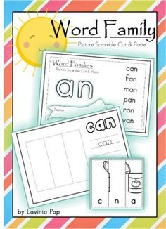 FREE Word Families - Picture Scramble Cut and Paste booklets