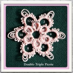 "83 Likes, 27 Comments - ❡♓ (@tattingchic) on Instagram: ""Double layered flowerette with Double Triple Picot by #TattingChic #tatting #pattern one shuttle…"""