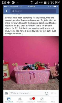 Make your own toy chest