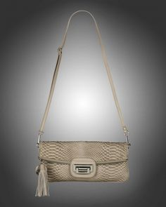 Beige snakeskin clutch from V-Collection