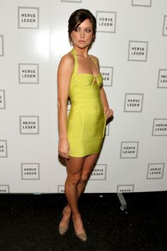 Herve Leger Bandage Dress Yellow-Jessica Stroup [HLBD-13012901] -  Herve Leger Dress, Herve Leger Sale!