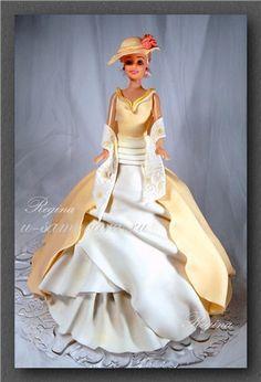 Дама в бальном платье                                                       … Bolo Barbie, Barbie Cake, Beautiful Cakes, Amazing Cakes, Dolly Varden Cake, Apple Cake Pops, Princess Diaper Cakes, Cake Pop Decorating, Cupcake Birthday Cake