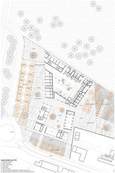 Social Housing in Milan / StudioWOK,ground floor plan