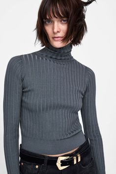 e9987d15e557 RIBBED KNIT TURTLENECK SWEATER from Zara - 3471 104 Πλέξιμο