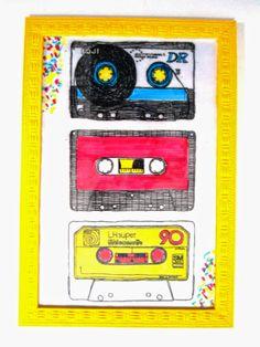 Wall decoration -  diy decoração - parede decorada com quadrinhos e posters Vintage retro camera, kombi  cassette tape fita