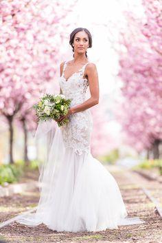 Philadelphia wedding: Watters Cinzia wedding dress