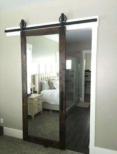 """Résultat de recherche d'images pour """"barn door with mirror"""""""