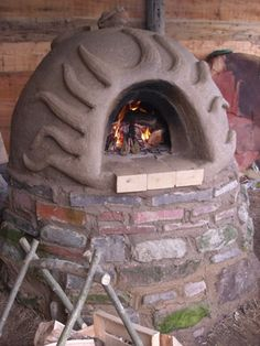 Earth Oven made of mud,straw and sand
