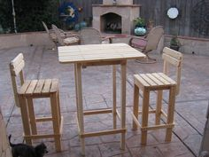 """NOTE: These are """"PLANS ONLY"""" to Build Your Own Patio Furniture.    Do-It-Yourself PLANS  Patio Bar Table and Stool Set    """"Keepin' it Simple"""" for"""