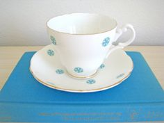 England Snowflake Teacup  Vintage English Tea by DelightfullyDutch, $15.00