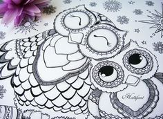 Mehndi Elephant Coloring Pages : Owl coloring pages for adults printable kids colouring
