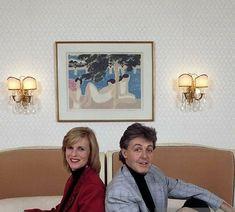 Paul & Linda McCartney in his Suite in Hotel George V, Paris, France. Fabulous Four, The Fab Four, Sir Paul, John Paul, John Lennon Beatles, The Beatles, My Love Paul Mccartney, Wings Band, A Day In Life