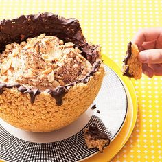 If you're looking for a more decadent bowled dessert, try Chocolate-Peanut Butter Bowls, made out of puffed rice cereal!