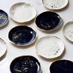 Op onze wishlist: borden met een gouden touch - Alles om van je huis je Thuis te maken | HomeDeco.nl