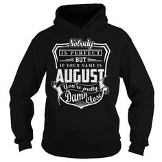 Awesome Tee AUGUST Pretty - AUGUST Last Name, Surname T-Shirt T shirts