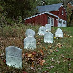 halloween deko künstliche grabsteine